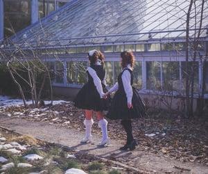 alice, wonderland, and gothic image