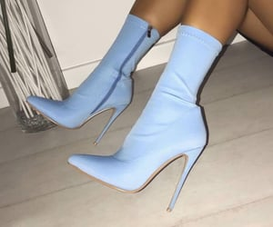 baby blue, fashion, and shoes image