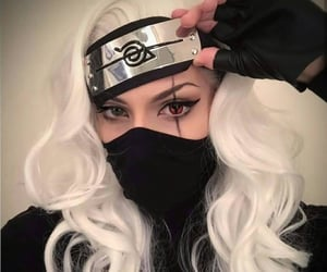 cosplay, pretty girl, and white hair image
