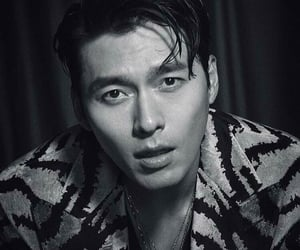 actor, korean, and black and white image