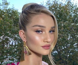 blonde, eyeshadow, and model image