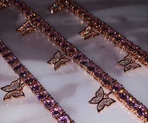 butterfly, diamonds, and fashion. image