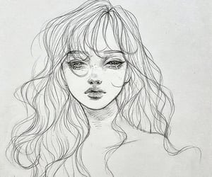 beauty, creative, and drawing image