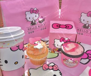 cafe, pink, and cupcake image