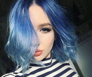 beauty, girl, and blue image