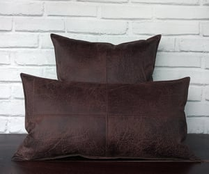 etsy, steampunk, and leather pillows image