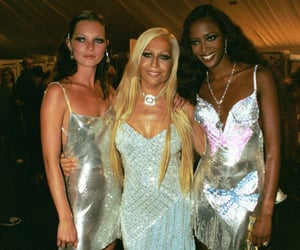 90s, Donatella Versace, and kate moss image