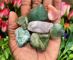 crystal, magick, and heart chakra image