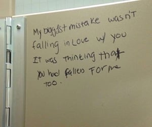 falling in love, with me, and my biggest mistake image