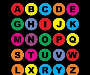 alphabet, colorfull, and colors image