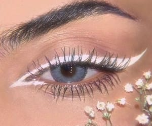 makeup, flowers, and white image