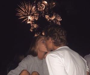 kiss, couple, and love image