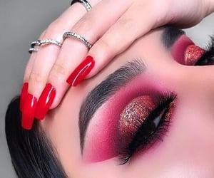extravagant, eye, and glitter image
