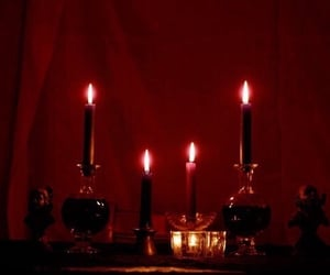 aesthetic, candles, and dark image
