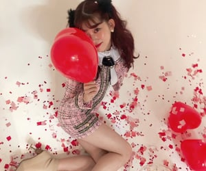 balloons, japanese girls, and pretty girls image