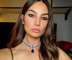 brunette, face, and choker image