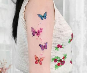 butterfly, kawaii, and tatto image