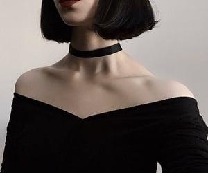 choker, makeup, and goth image