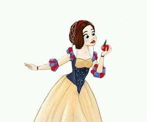disney, snow white, and manzana image