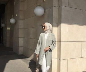aesthetic, minimalist style, and hijab fashion image