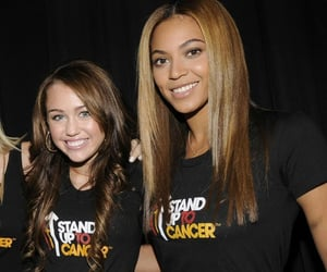 queen b, miley cyrus, and beyoncé image