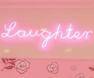 laughter, pastel, and pink image