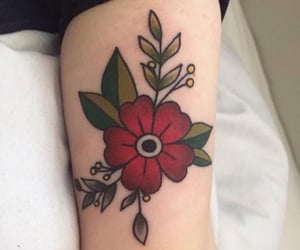 flower, ink, and tattoo image