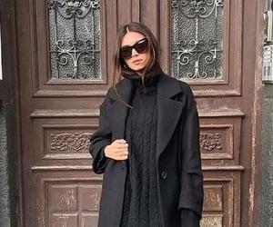 black, fashion, and coat image