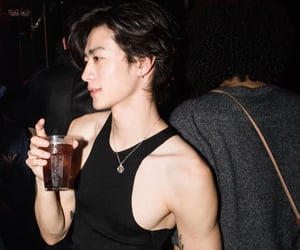 asian, drink, and man image