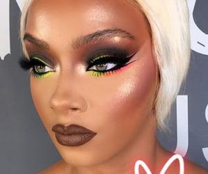 beauty, colorful eyeshadow, and blush image