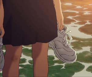 anime, gif, and scenary image