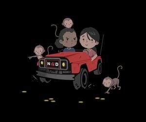 car, monkeys, and cute image