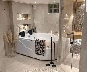 bathroom, candle, and design image