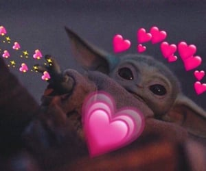 meme, baby yoda, and star wars image