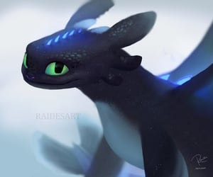 toothless, how to train your dragon, and night fury image