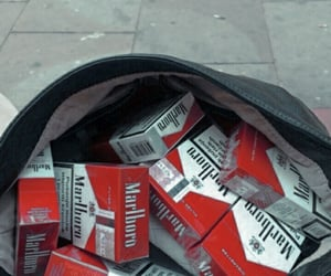 marlboro, cigarette, and red image