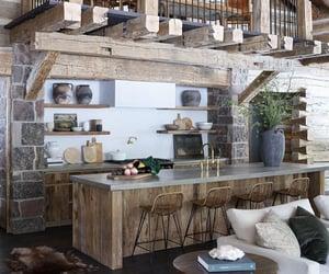 architecture, cabin, and dream home image