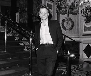 aesthetic, black and white, and charlie heaton image