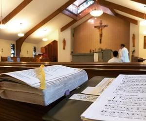 abbey, Catholic, and Christ image