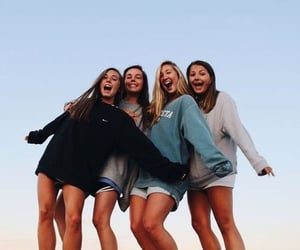 beach, friendship, and happiness image
