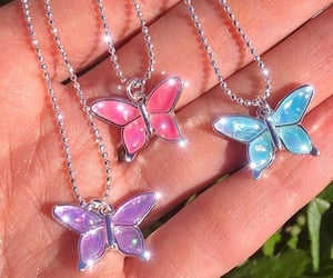 aesthetic, butterfly, and pink image