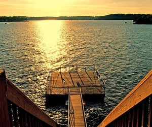 water, beach, and dock image