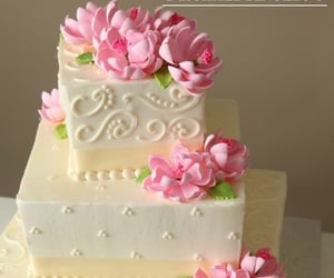 buttercream, pink, and cake image