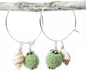 etsy, seashell earrings, and beach earrings image