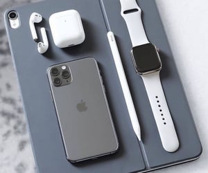 iphone, iwach, and airpods image