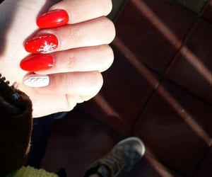 girl, gucci, and red nails image