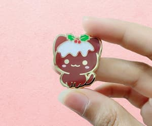 etsy, pin collection, and cute cat pin image