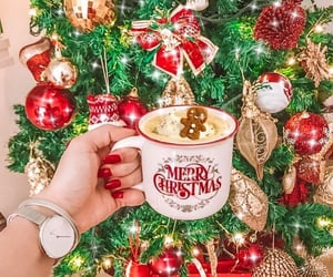 christmas, christmas tree, and coffee mug image
