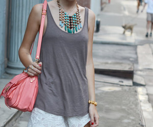 new york city, pink, and style image