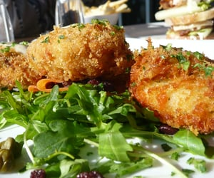 food, yummy, and fish cakes image